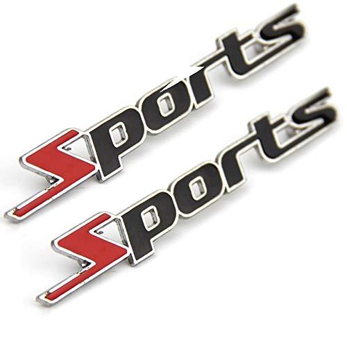 Fliyeong Sport Metall Abzeichen Aufkleber Auto Abzeichen Aufkleber Dekor Sport Buchstaben Autos Aufkleber 14 * 2 cm 2 stücke