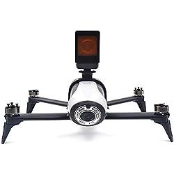 Kingwon Support de Fixation de caméra pour Le Drone Parrot Bebop 2 FPV utilisé pour Transporter la caméra Gopro Hero 5 4 3 Support 1/4 Vis de Base