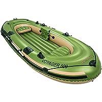 Bestway 65001 - Barca hinchable Voyager 500, para 3 personas, 348 x 142 cm, incluye remos de plástico