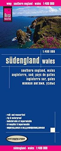 Inglaterra sur y Gales, mapa de carreteras impermeable. Escala 1:400.000. Reise Know-How.