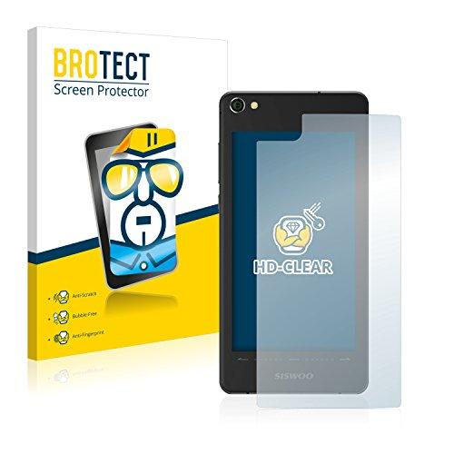 BROTECT Schutzfolie kompatibel mit Siswoo R9 Darkmoon (Rückseite) [2er Pack] klare Bildschirmschutz-Folie