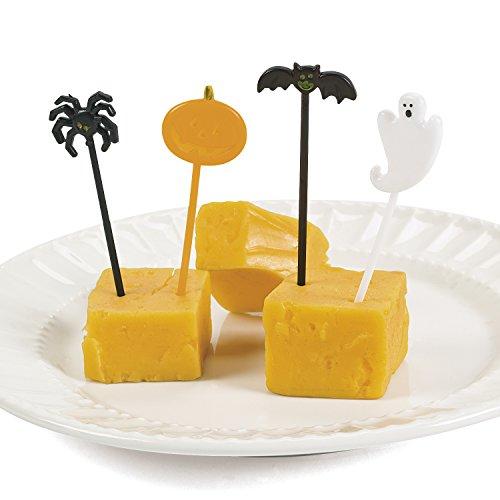 Halloween Party-Picks-Spieße-Picker 72 Stück mit Geist Kürbis Spinne und Fledermaus (Fledermaus Picks Halloween)