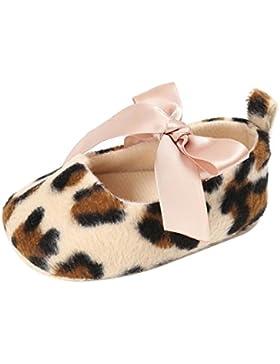 Babyschuhe Longra Baby Kleinkind Mädchen Nette Leopard Print Krippe Schuhe Soft Prewalker Soft Sole Anti-Rutsch...