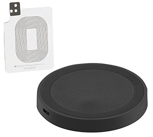 Callstel Induktion Laden: Induktions-Ladestation und Receiver-Pad kompatibel mit Galaxy S5, Qi-kompatibel (Qi Empfänger)