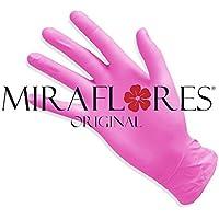 Guantes desechables de nitrilo Rosa - Pack de 100 guantes - disponibles tamaños S y M