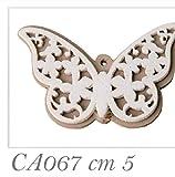 36 PEZZI farfalla in legno 5 cm decorazione bomboniera