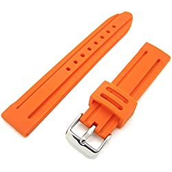 Orange Silicone Rubber Divers Sports GENERIC Watch Strap Band
