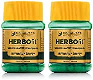 Dr. Vaidya's New Age Ayurveda | Herbofit | Goodness of Chywanprash | Boost Resistance and Energy | 30 Caps