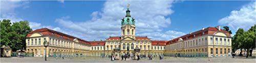 XXL Panoramabild Farbdia Wandbild, Das Charlottenburger Schloß von Berlin, austauschbares Bild (nur Hinterleuchtung) für unsere LED Acrylglas Wandbilder als Wanddeko 300 x 75cm -