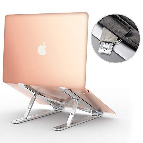 Babacom Laptop Ständer, Belüfteter Faltbarer Aluminium Notebook Ständer, Verstellbare Universale Laptop Halterung für MacBook Air Pro, Huawei,Lenovo, Dell XPS,HP, Alle 11-17 Zoll Laptops Tablet iPad