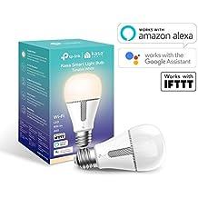 TP-Link KL120 Lampadina Wi-Fi E27, 10 W, Funziona con Amazon Alexa e Google Home, 800 Lumen, Tono Caldo/Freddo 2700K-5000K, Controllo da remoto