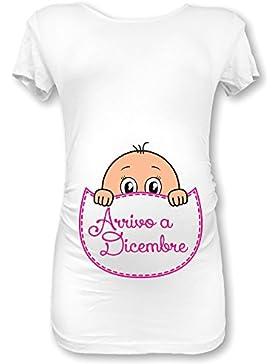 Babloo Shirt Natale Maglia Premaman in Arrivo a Dicembre