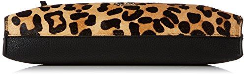 Dune Damen Eharriet Clutch, 4x23x30 cm Mehrfarbig (Leopard)