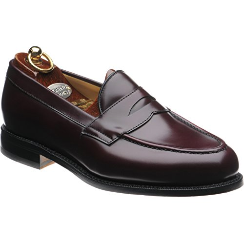 Aringa riverford mocassino in bordeaux lucido, marrone (burgundy polished), 44 eu