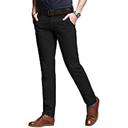 Match 8050 - Pantalones Slim para Hombre (8060 Negro(Black)