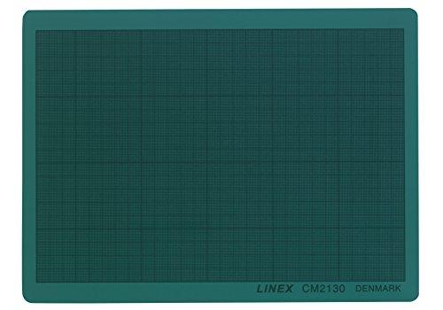 LINEX 100412209 Schneidematte, Schneideunterlage DIN A4 21 x 30 cm grün selbstschließend, selbstheilend mit mm-Raster