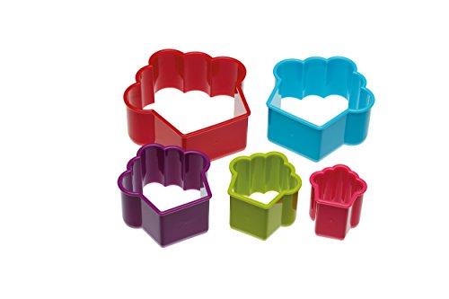 Colourworks  Kunststoff-Cupcakeform-Keksausstecher im Fünfer-Set Shaped Cookie Cutter Set