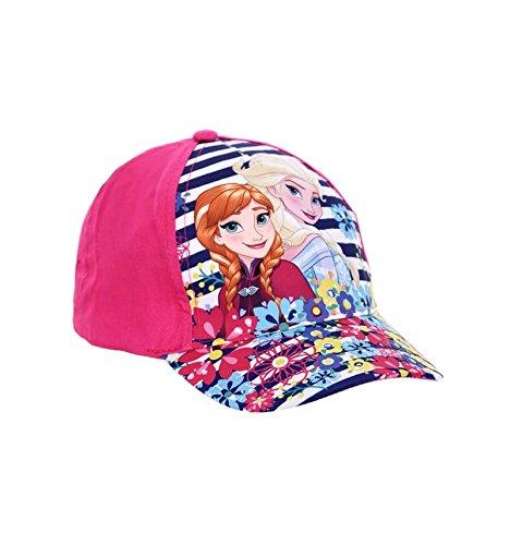La Reine des Neiges - Sombrero - para niña rosa oscuro 52 cm (3-6 años)