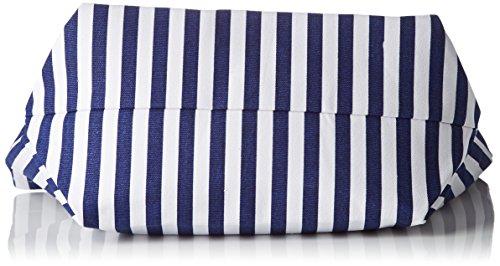 Le Temps des Cerises Damen Navy Ltc3w46 Einkaufstasche, 15x42x32,5 cm Bleu (Rayures Bleu Blanc)
