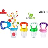 Baby Fresh Food, Fruit And Vegetable Feeding Pacifier By Flick In   Silicone BPA Free   Baby Nibbler Food Feeder Teether   Baby Feeding Teething Toy   Mesh Feeder Toys   6 To 12 Months (Multicolor)