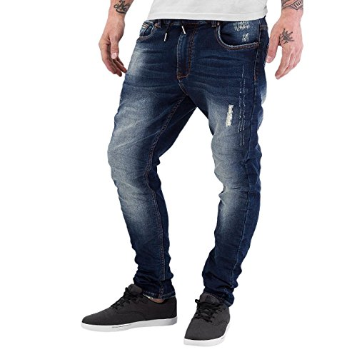 Just Rhyse Ron II Herren Anti Fit Jeans Blau Blau