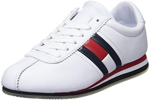 Damen-retro-sneaker (Hilfiger Denim Damen WMN Retro Flag Sneaker, Rot (RWB 020), 42 EU)