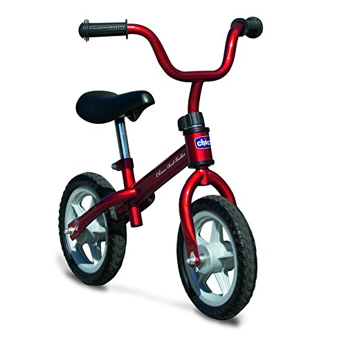 Chicco First Bike - Bicicleta sin pedales con sillin regulable, color rojo, 2-5 anos