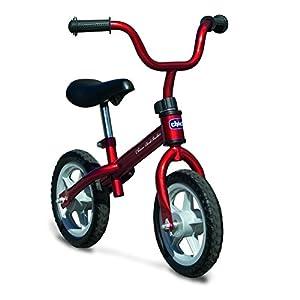 Chicco First Bike - Bicicleta sin pedales con sillín regulable, color rojo, 2-5 años