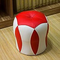 Preisvergleich für MO XIAO BEI Kleiner Schemel Niedriger Schemel Festes Holz-Änderungs-Schuh-Bank-Leder Schemel-Sofa-Schemel Kleine Bank-Wohnzimmer-Schemel-Leder-Schemel (Farbe : Red)