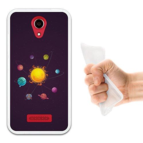 WoowCase Doogee X3 Hülle, Handyhülle Silikon für [ Doogee X3 ] Sonnensystem außerirdischer Planet Handytasche Handy Cover Case Schutzhülle Flexible TPU - Transparent
