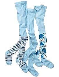 wellyou, Kinder-Strumpfhosen für Jungen und Mädchen 3er Set, Baby-Strumpfhosen blau, hoher Baumwoll-Anteil, Größe 62 – 146