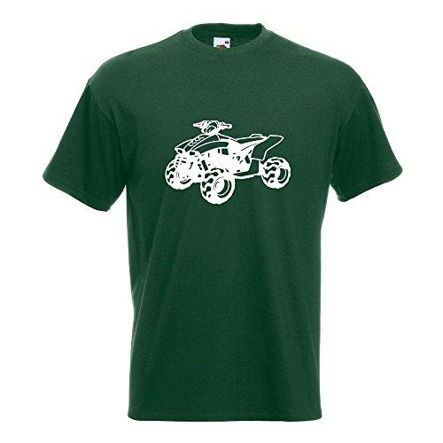 KIWISTAR - Quad Motorbike T-Shirt in 15 verschiedenen Farben - Herren Funshirt bedruckt Design Sprüche Spruch Motive Oberteil Baumwolle Print Größe S M L XL XXL Flaschengruen