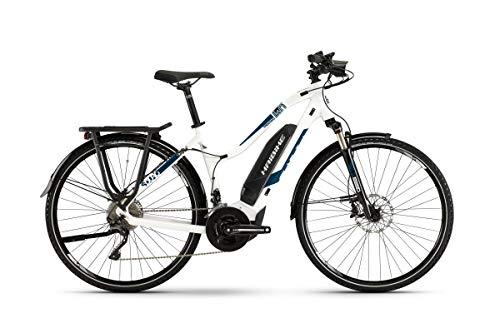 Haibike Sduro Trekking 4.0 Damen Pedelec E-Bike Fahrrad weiß/blau 2019: Größe: L