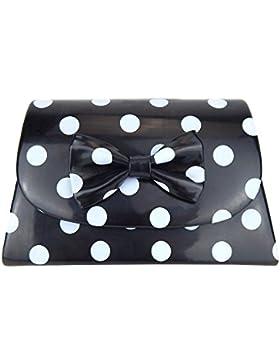 Tasche schwarz hellgraue Punkte Rockabilly Ella Jonte kleine Handtasche gepunktet Retro