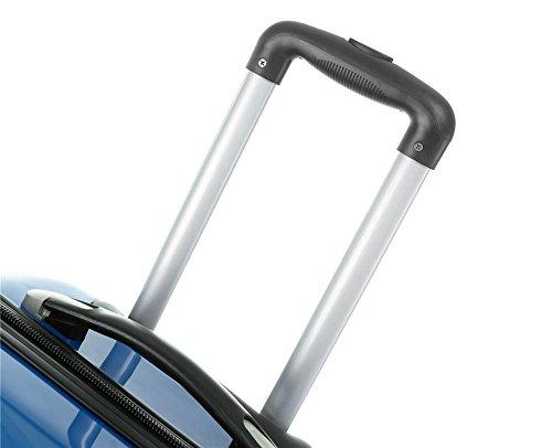 Polycarbonat Hartschale Koffer 2060 Trolley Reisekoffer Reisekofferset Beutycase 3er oder 4er Set in 7 Motiven (Flug(3er Set)) - 7