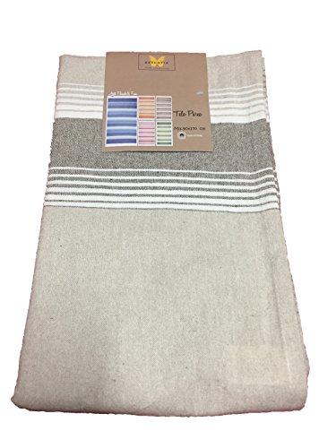 telo fouta pareo asciugamano mare ESSENTIA 100% cotone molto fresco 90x170 ART.beach&fun righe larghe orizzontali (SABBIA)