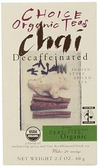 Choice Organic Decaf Chai, 2.1 Ounce