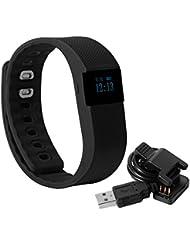 XCSOURCE® TW64 Smart Armband Wasserdichte Sport Gesundheit Aktivität Fitness Tracker Bluetooth Armband Pedometer Schlaf Monitor (Schwarz) AC398