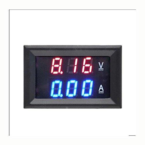 WKELECTRONDE-5 stücke Top Qualität DC 100 V 10A Voltmeter Amperemeter Blau + Rot LED Amp Dual Digital Volt Meter Gauge 10 Gauge Amp