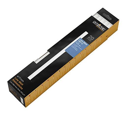 Steinel Klebesticks Low Melt Ø11 mm, 20x Heißklebe-Patronen, Schmelzkleber für temperatursensible Materialien, 600 g