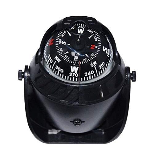 DIAMOEN Auto-LKW-Boot Adhesive Navigation Kompass-Kugel 12V LED-Licht Armaturenbrett Dekoration Ornament
