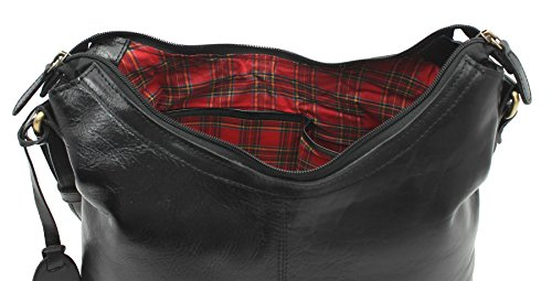 Ashwood Borsa a spalla in pelle con tracolla singola ELA848, nero (Nero) - ELA848 nero