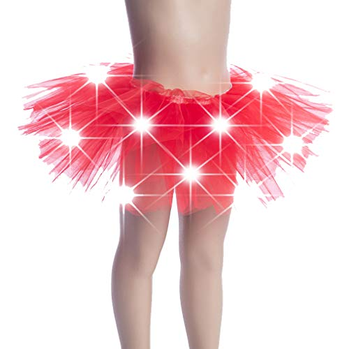 Uzinb Kinder Mädchen leuchten LED Tutu Neuheit Bühne Tanz-Rock-Minirock Tanzbekleidung Kinder-Partei-Kostüm