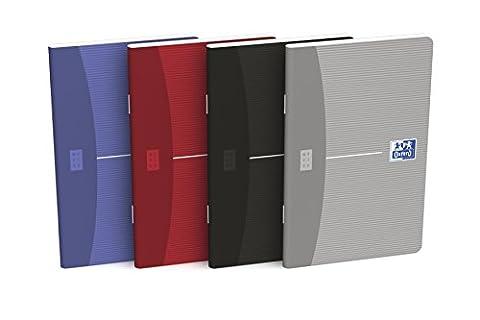 Oxford Essentials Lot de 10 Carnets 9 x 14 cm Piqure 96p Petits Carreaux 5x5 Assortis