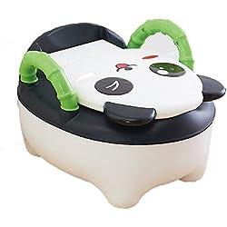 QIANGUANG® Abattant Toilette Siège de Toilettes Trainer Pot WC pour Chaise Bébé Enfants Bebe (Noir)
