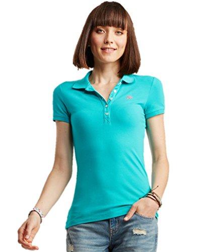 Aeropostale Women's Polo Shirt Small Lt Teal w Pink 110 (Polo-shirts Aeropostale)