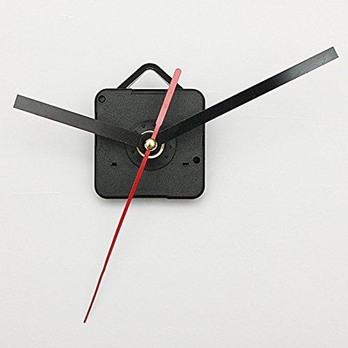 Mouvement Mécanisme Silencieux D'horloge A Quartz Aiguilles Noir Rouge DIY NEUF