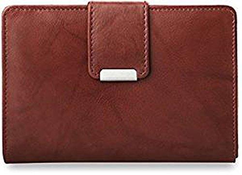 Unbekannt praktisches Damen - Portemonnaie Leder - Geldbörse (braun)