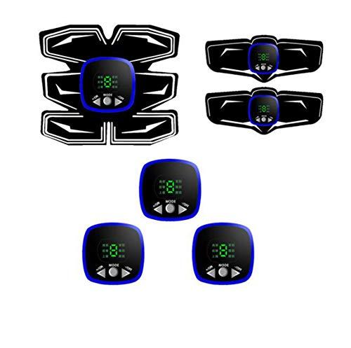 ZGZXD-Bauchmuskeltrainer, EMS Bauchmuskeltrainer Muskelstimulator Bauchstützgürtel Gym Training Fitnessgeräte Zuhause,Blue