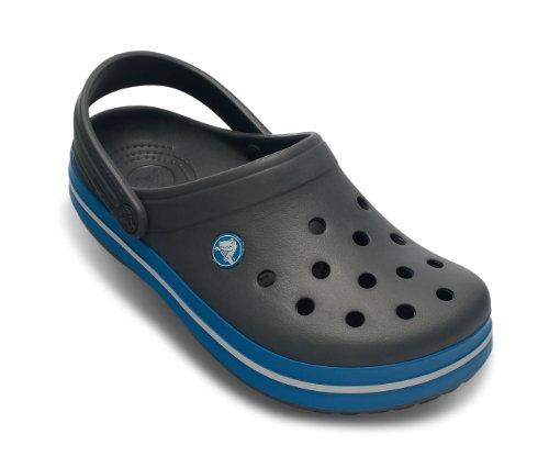 crocs Unisex-Erwachsene Crocband Clogs Black (Charcoal/Ocean)